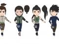 Чиби девушки из Нара